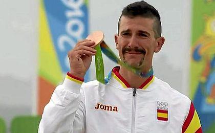 Coloma logró al última medalla para España.