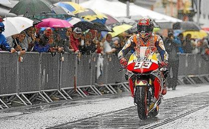 Marc Márquez, durante el GP República Checa.
