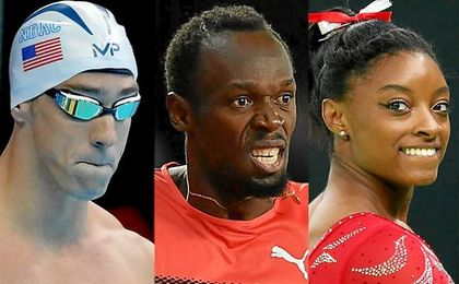 Phelps, Bolt y Simone Biles.