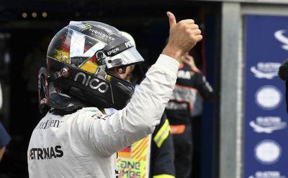 Rosberg fue el más rápido en los entrenamientos en Spa.