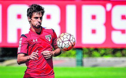 Caio, durante un entrenamiento con el Sao Paulo.