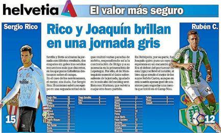 Rico y Joaquín brillan en una jornada gris