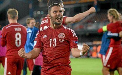 Durmisi, con la selección de Dinamarca.