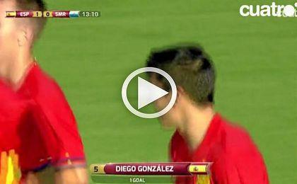 Así fue el gol de Diego González en su debut con la Selección Sub-21