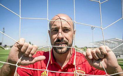 Pepe Reina, entrenando de nuevo con la Selección Española