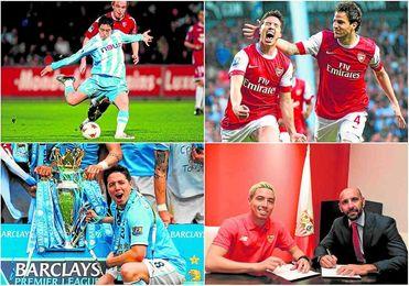 Nasri sali� del Marsella, explot� en el Arsenal y gan� t�tulos en el City; ahora firma por el Sevilla.