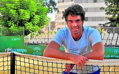 Pablo Andújar, en las pistas del Real Club de Tenis Betis, sede de la Copa Sevilla.