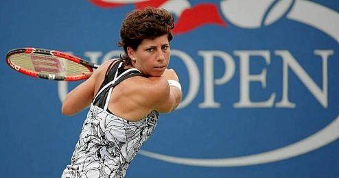 Gran tenis de Carla Suárez.