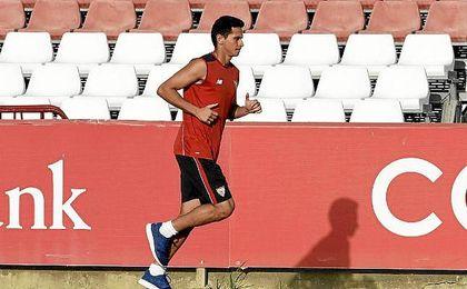 Ganso, en la Ciudad Deportiva José Ramón Cisneros Palacios.