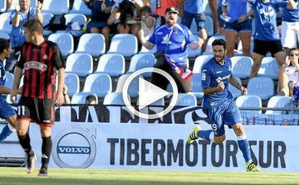 Es el primer gol oficial de el de Alcoy con el conjunto azulón.