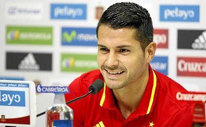 """""""Con mi forma de jugar encajar�a muy bien en un equipo como el Atl�tico de Madrid"""", dijo horas antes."""
