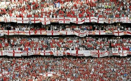 Aficionados ingleses.