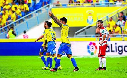 El equipo canario ha marcado nueve goles en los dos primeros partidos de Liga.