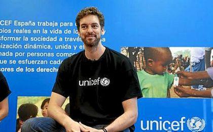 Pau Gasol durante un evento de Unicef.