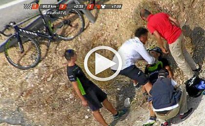 Jos� Joaqu�n Rojas abandona la Vuelta tras sufrir una dura ca�da