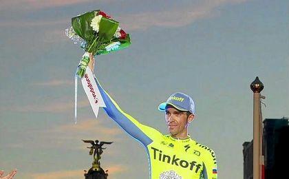 """""""No he podido ganar, pero estoy contento con la Vuelta que he hecho"""", comentó Contador."""