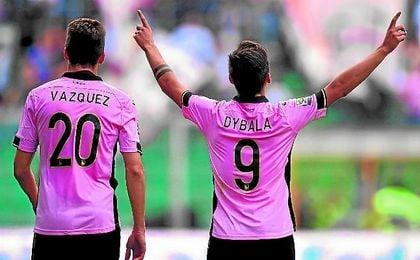 Franco Vázquez y Paulo Dybala fueron claves para el Palermo a lo largo de la temporada 14/15.