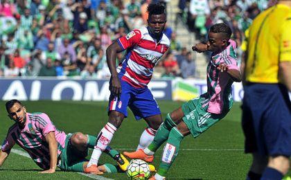 Musonda y Montoya en el duelo ante del Granada del año pasado.