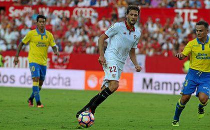 Franco Vázquez en el duelo ante Las Palmas.