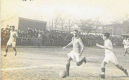 Lance de un derbi de la Copa de Andalucía de 1918.