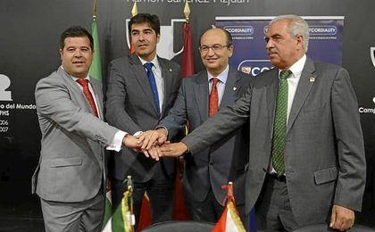Carlos Jiménez, Ángel Haro, José Castro y Juan de Dios Álvarez.
