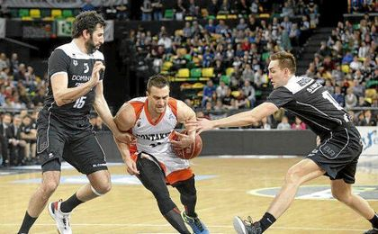 Imagen del duelo entre Bilbao Basket y Fuenlabrada de la temporada pasada.