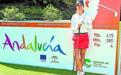 En la imagen, la golfista malageña Azahara Muñoz.