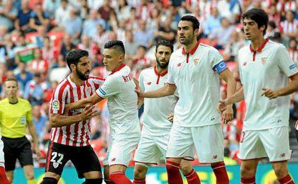 Imagen del Athletic Club-Sevilla en San Mamés.