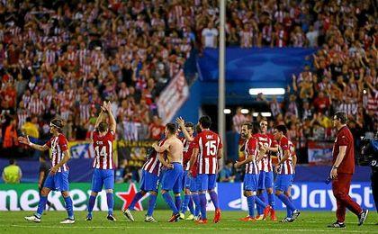 El Atlético de Madrid venció en el Vicente Calderón por 1-0 al Bayern de Múnich de Ancelotti