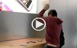 Un franc�s destroza una tienda Apple como protesta por el servicio t�cnico