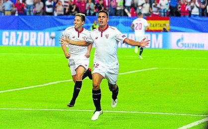 Ben Yedder, celebrando su gol frente al Lyon.