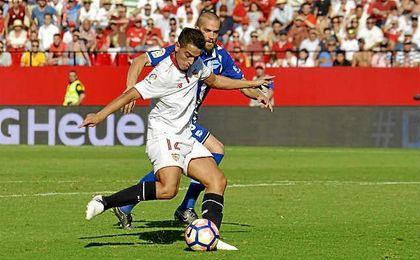 Ben Yedder asumió la responsabilidad goleadora ante el Alavés y no defraudó.
