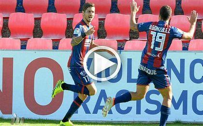 Vadillo se estrena como goleador en el Huesca