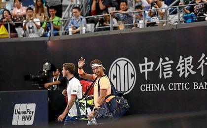 Rafa Nadal, tras vencer a Lorenzi y acceder a octavos de final.