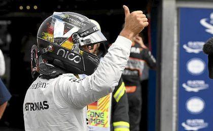 """""""Estoy aquí para ganar carreras y ese es siempre el objetivo"""", explicó Rosberg."""