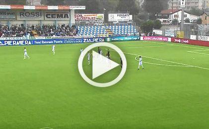 Imagen del partido entre el Virtus Estrella y el Vicenza.
