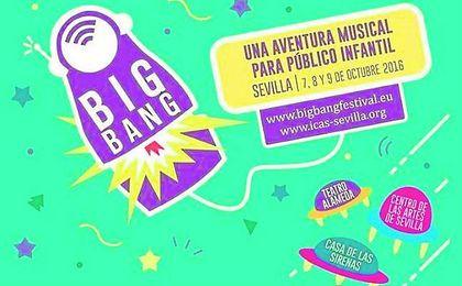 En la imagen, cartel de la presente edición del Festival Big Bang en Sevilla, con varias sedes.