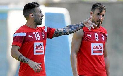 Antonio Luna y Sergi Enrich, los futbolistas involucrados en el v�deo.