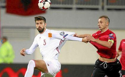Piqué, frente a Albania.