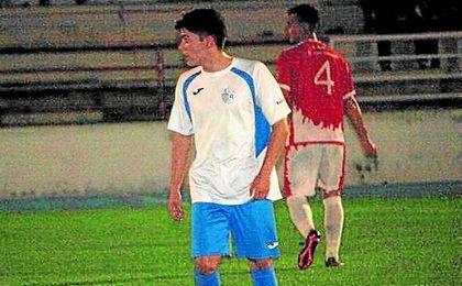David Aguilar en el partido ante el San Roque.