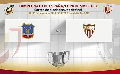 Sevilla-Formentera para dieciseisavos de la Copa del Rey.