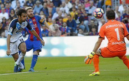 Messi volvió y marcó en esta acción.