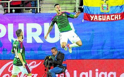 El ex bético Sergio León hizo dos goles.