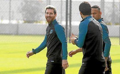 Messi, Neymar y Suárez jugarán de inicio ante el City.
