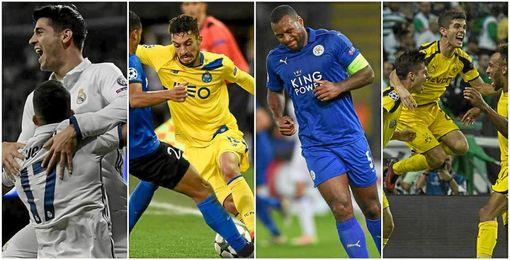 El Real Madrid, Dortmund, Leicester y Oporto se impusieron en sus encuentros
