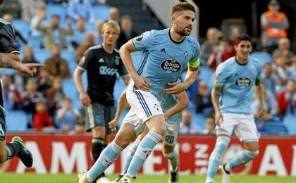Fontás hizo el primer gol del Celta.