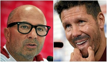 Jorge Sampaoli y Diego Simeone se verán las caras en Nervión.