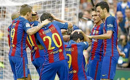 Tras el 2-3 de Messi, un aficionado che lanzó una botella que impactó en Neymar.