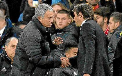 Mourinho reprocha a Conte su actitud tras el 4-0.