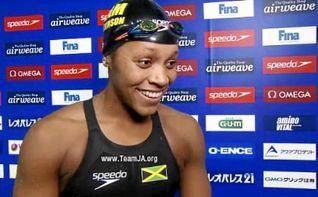 La jamaicana Atkinson bate el r�cord del mundo en los 50 braza